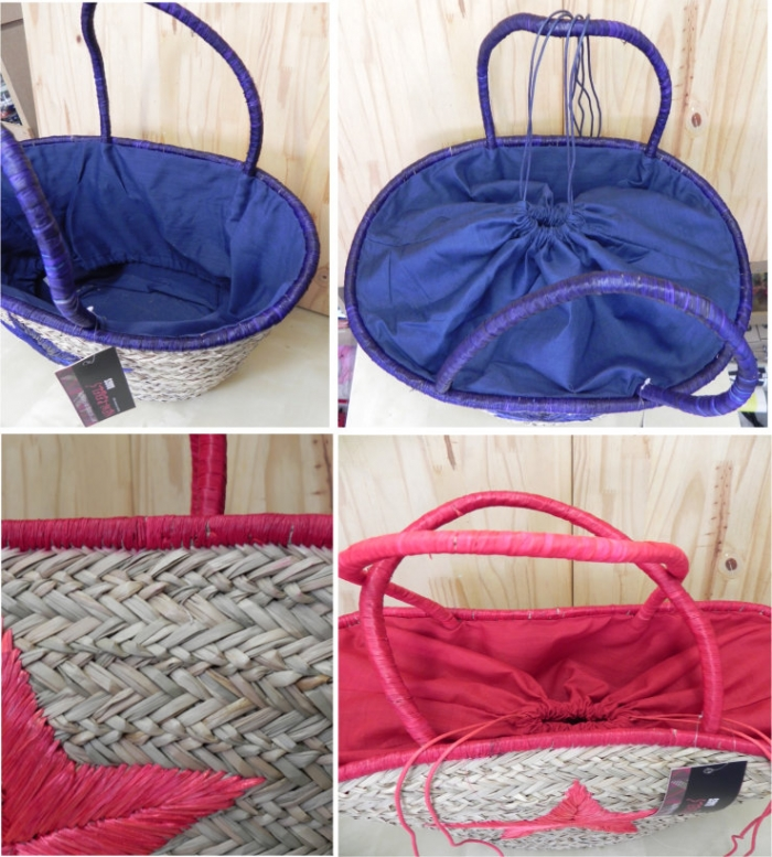 Strandtassen Groothandel : Luxe partij strand tassen riet ibiza style partijhandel