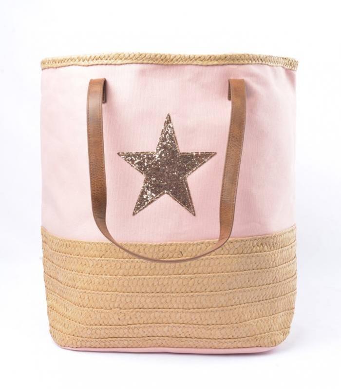 Stoffen Damestassen : Luxe damestassen met ster leverbaar in kleuren