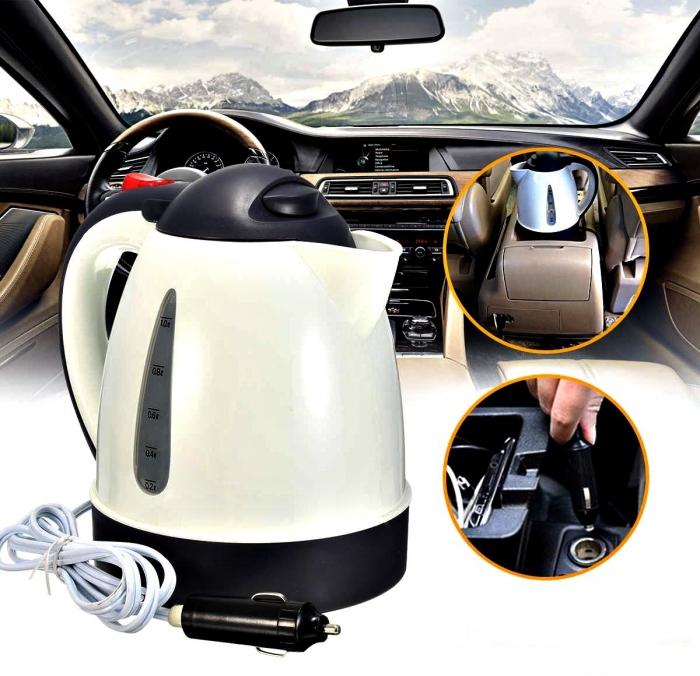 Wonderbaar 12 Volt Auto Waterkoker - 12V Mini Reiswaterkoker - 1 Liter - 150W BB-95